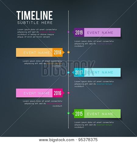 Vector timeline template - for personal or business planning.