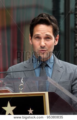 LOS ANGELES - JUL 1:  Paul Rudd at the Paul Rudd Hollywood Walk of Fame Star Ceremony at the El Capitan Theater Sidewalk on July 1, 2015 in Los Angeles, CA