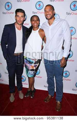 LOS ANGELES - JUN 30:  Nick Hounslow, Nichelle Hines, Aaron Hines at the SpyChatter Launch Event at the The Argyle on June 30, 2015 in Los Angeles, CA