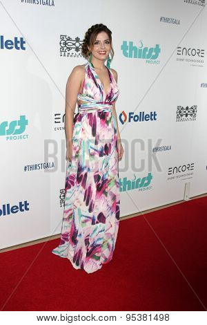 LOS ANGELES - JUN 30:  Jen Lilley at the 6th Annual Thirst Gala at the Beverly Hilton Hotel on June 30, 2015 in Beverly Hills, CA