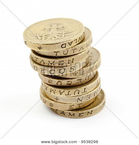 Pile of £1 Coins