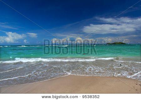 Beach On Saint Lucia