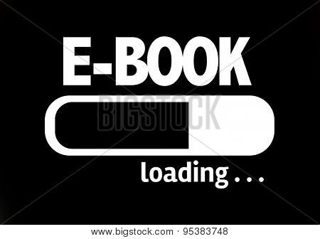 Progress Bar Loading with the text: E-Book