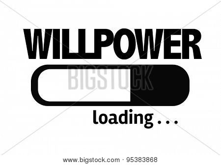 Progress Bar Loading with the text: Willpower