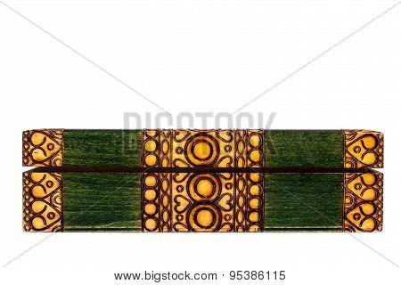 Wooden Green Casket