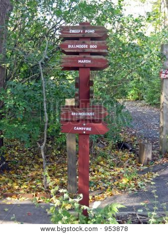 Guideposts In A Park