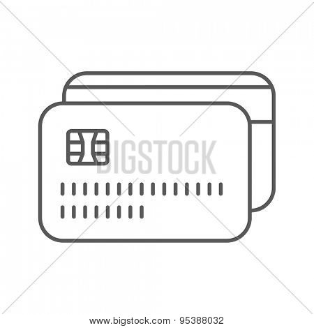 Thin Line Credit Card Web Icon