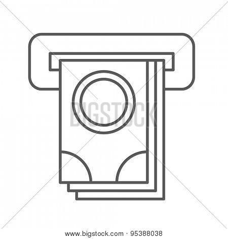 Thin Line ATM Web Icon