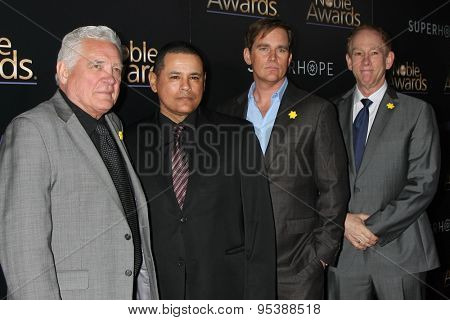 LOS ANGELES - FEB 27:  GW Bailey, Raymond Cruz, Phillip Keene, James Duff at the Noble Awards at the Beverly Hilton Hotel on February 27, 2015 in Beverly Hills, CA