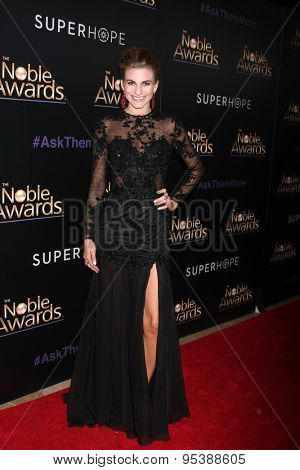 LOS ANGELES - FEB 27:  Rachel McCord at the Noble Awards at the Beverly Hilton Hotel on February 27, 2015 in Beverly Hills, CA