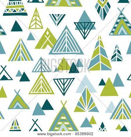 Strange journey - seamless pattern
