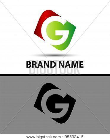 Logo g letter Vector illustration design template