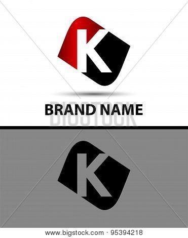 Letter K Vector elegant alphabet symbol