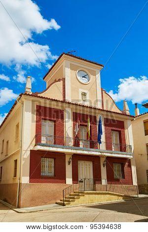 City town hall in Talayuelas Cuenca at Castilla la Mancha of spain
