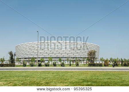 BAKU - MAY 10, 2015: Baku Olympic Stadium on May 10 in BAKU, Azerbaijan. Baku Azerbaijan will host the first European Games