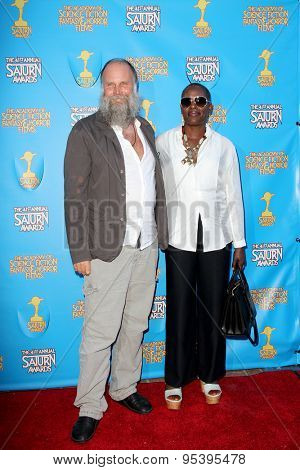 BURBANK - JUNE 25: Marcus Nispel and guest arrives at the 41st Annual Saturn Awards on Thursday, June 25, 2015 at the Castaway Restaurant in Burbank, CA.