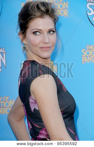 BURBANK - JUNE 25: Tricia Helfer arrives at the 41st Annual Saturn Awards on Thursday, June 25, 2015 at the Castaway Restaurant in Burbank, CA.