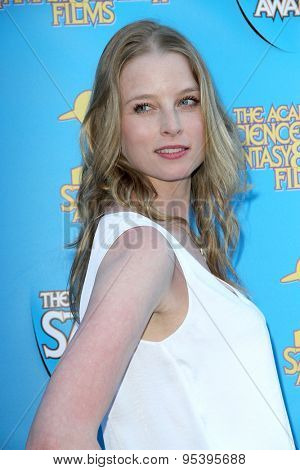 BURBANK - JUNE 25: Rachel Nichols arrives at the 41st Annual Saturn Awards on Thursday, June 25, 2015 at the Castaway Restaurant in Burbank, CA.