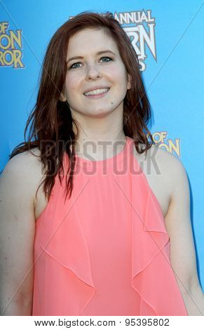 BURBANK - JUNE 25: Magda Apanowicz arrives at the 41st Annual Saturn Awards on Thursday, June 25, 2015 at the Castaway Restaurant in Burbank, CA.