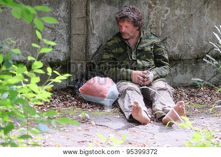 The image of beggar