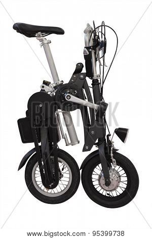 collapsible bicycle isolated under the white background