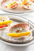 picture of scallops  - scallops on the party table - JPG