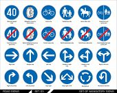 image of traffic sign  - Set of road signs - JPG