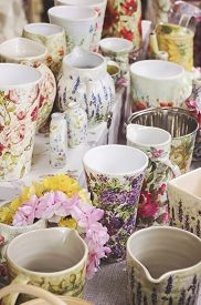 picture of decoupage  - Decoupage pottery - JPG