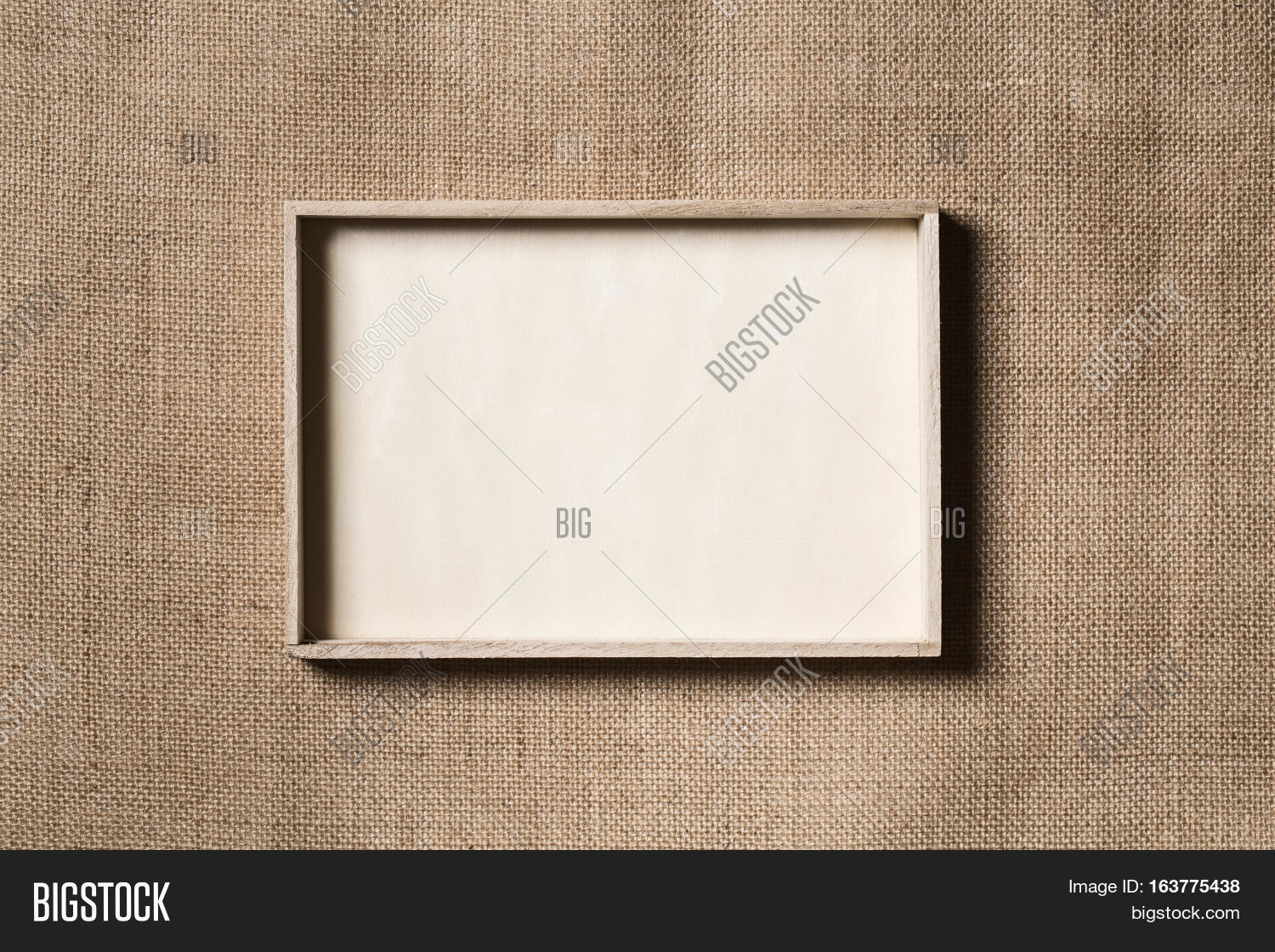 Burlap Frame Wooden Border Over Image Photo Bigstock
