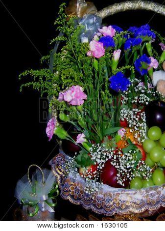 Wedding Gift Flowery Fruit Basket
