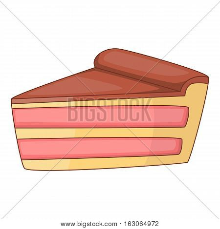 Piece of cake icon. Cartoon illustration of piece of cake vector icon for web design