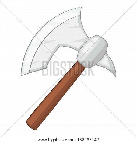 Viking axe icon. Cartoon illustration of viking axe vector icon for web design
