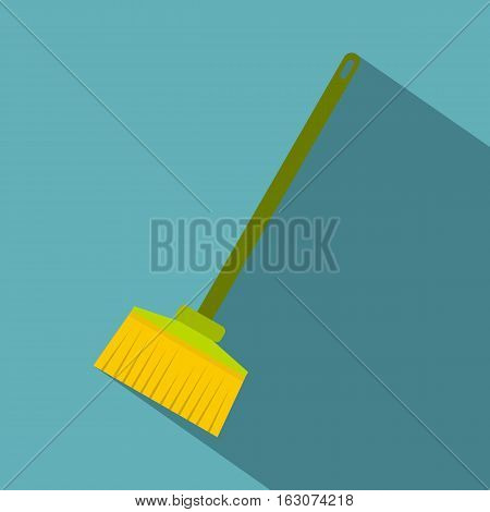 Broom icon. Flat illustration of broom vector icon for web