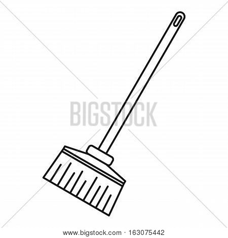 Broom icon. Outline illustration of broom vector icon for web