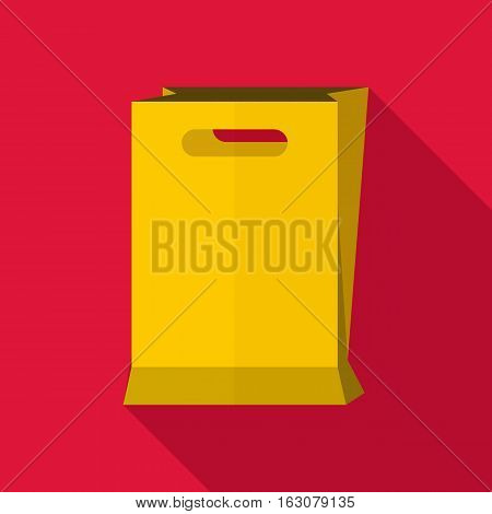 Paper bag icon. Flat illustration of paper bag vector icon for web