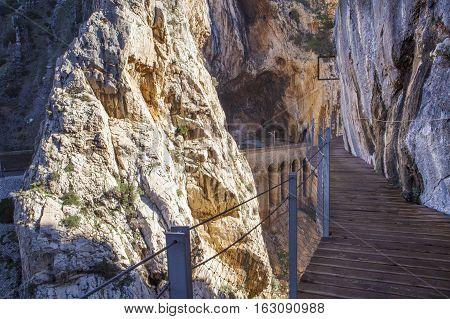 Caminito del Rey footpath Ardales, Malaga Spain