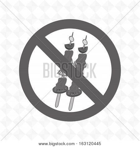 skewer fast food unhealth prohibited vector illustration eps 10