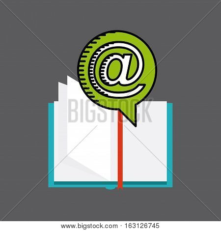 distance education elearning icon vector illustration design