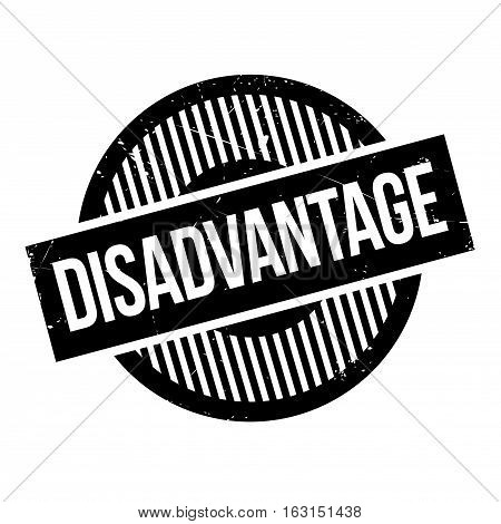 Disadvantage rubber stamp. Grunge design with dust scratches. Effects can be easily removed for a clean, crisp look. Color is easily changed.