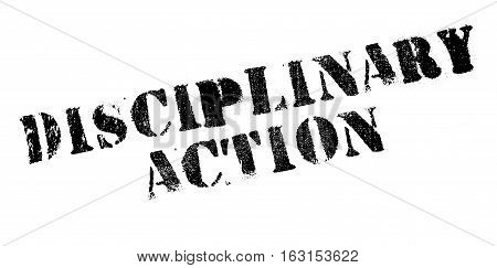 Disciplinary Action rubber stamp. Grunge design with dust scratches. Effects can be easily removed for a clean, crisp look. Color is easily changed.
