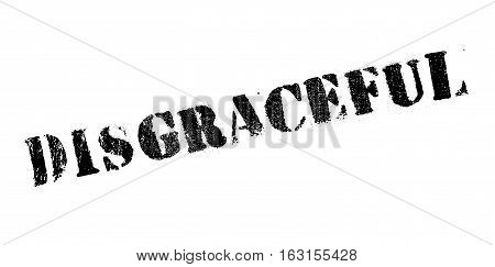Disgraceful rubber stamp. Grunge design with dust scratches. Effects can be easily removed for a clean, crisp look. Color is easily changed.