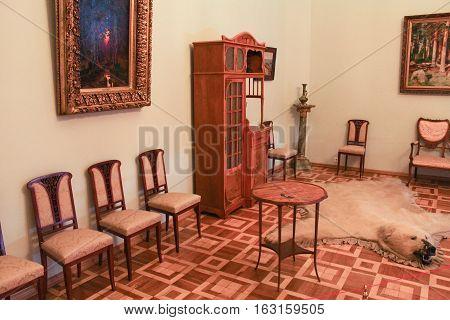 Gatchina, Russia - 3 December, Interior living Gatchina Palace, 3 December, 2016. Visit the Museum Reserve Gatchina Palace.