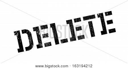Delete rubber stamp. Grunge design with dust scratches. Effects can be easily removed for a clean, crisp look. Color is easily changed.