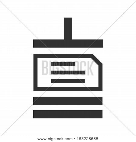 black Archive file sign icon on white background