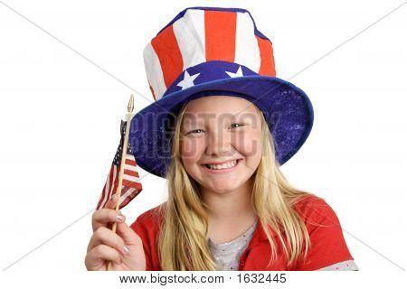 patriotische Mädchen