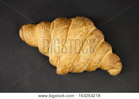 Croissant On A Black Background