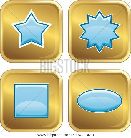 Set of four Internet Icons