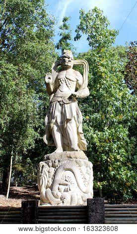 Warrior, Sculpture, Buddha Eden's Gardens, Bombarral, Portugal
