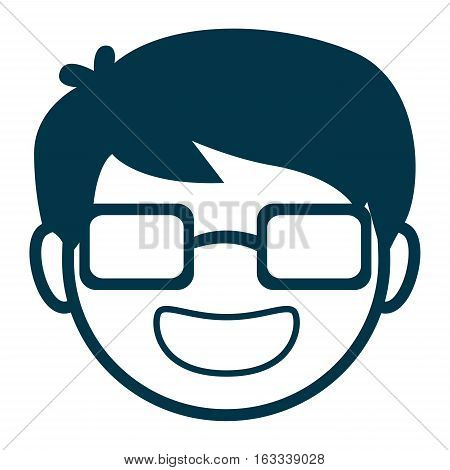 Vector Illustration of Avatar Man Face with Glasses