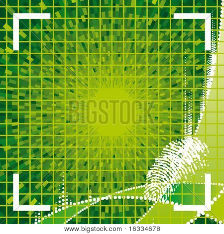 vector green fingerprint access granted